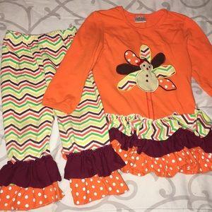 Fall ruffle outfit